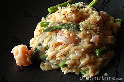 Orzo Pasta with seafood