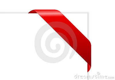 Envelope with red ribbon