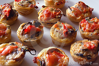 Mini Tomato and mushroom tarts