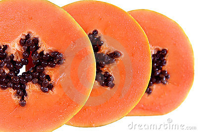 Papaya slices