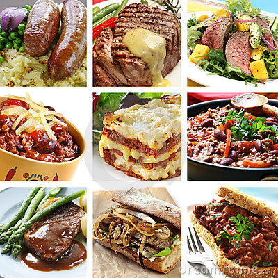 Beef Meals Collage