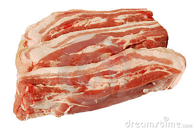 Sliced pork breast