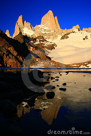 Mount Fitz Roy Argentina at sunrise