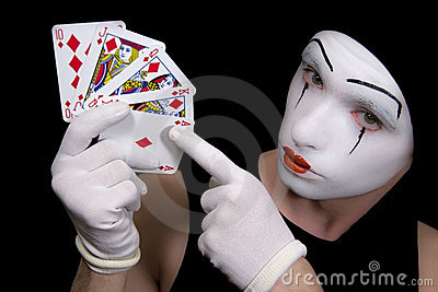 Mime  with royal flush