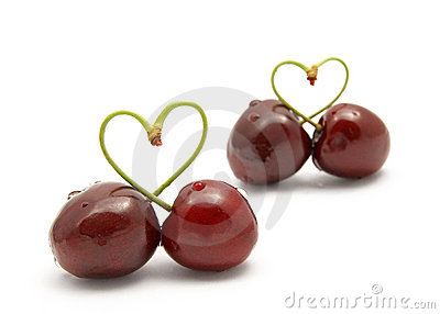 Cherry heart-shape