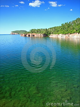 Transparent water of lake Superior