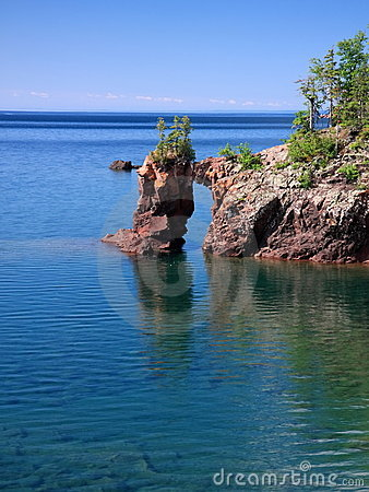Lake Superior and natural arch