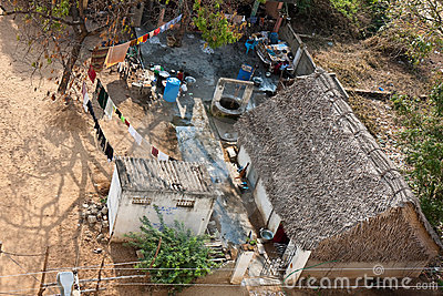 Poor Family House in India