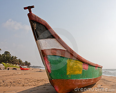Colorful Boat on the Beach