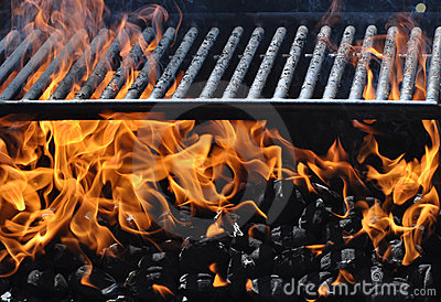 Empty Barbecue Grill