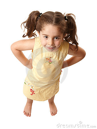 Little girl with attitide hands on hips