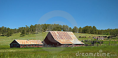 Old Wyoming Barn and Ranch