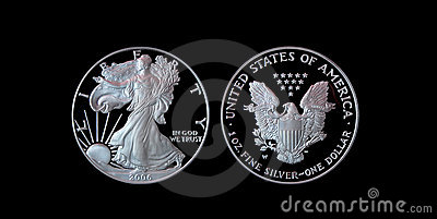 Proof American Silver Eagle with clipping path
