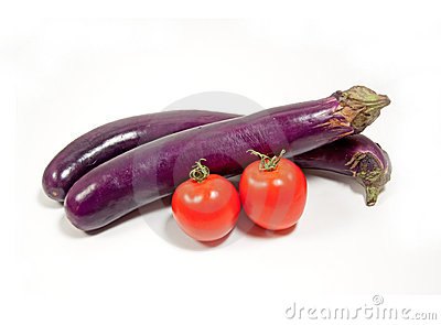 Chinese eggplant and tomato