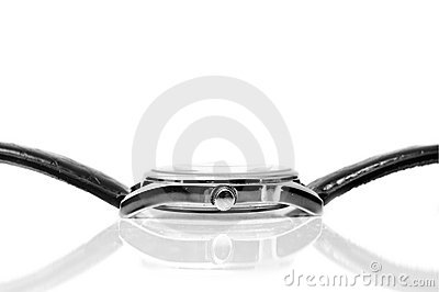 Wrist watches in horizontal position