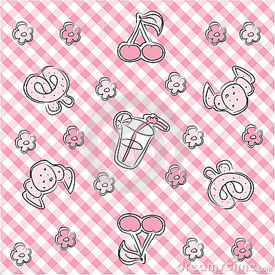 Pink pastel baby background