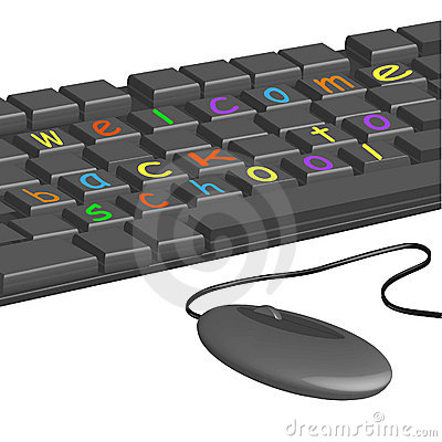 Computer keyboard - colored letters