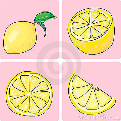 Icon set - lemon fruiit