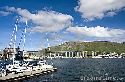 Tromso bridge and marina
