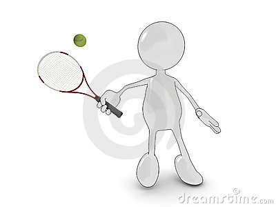 Cartoon tennis player