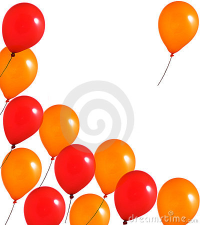 Red and orange balloons