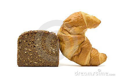 Healthy and unhealthy bread