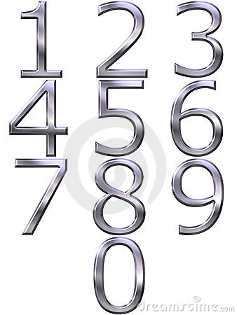3D Silver Numbers