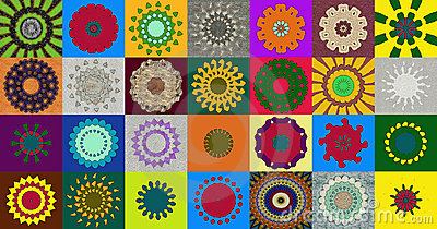 Collection of kaleidoscopic designs