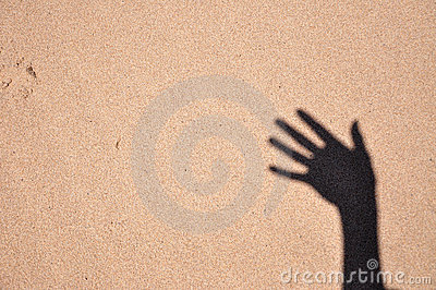 Hand on the sand