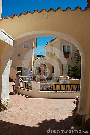 View of Porto Cervo`s street