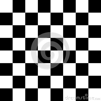 Chessboard or checker board seamless pattern in black and white. Checkered board for chess or checkers game. Strategy