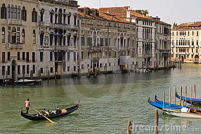 Gondola in the Grand Canal of Venice