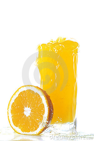 Oranges and glass of juice