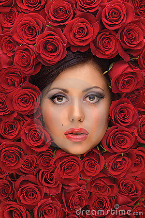 Girl In Red roses
