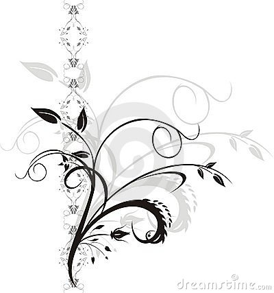 Floral elements. Ornament for design
