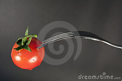 Tomato and fork