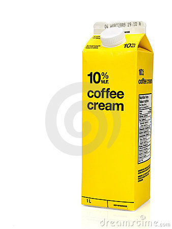 Coffee cream box