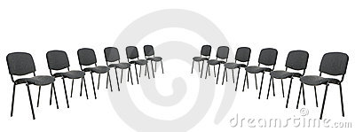 Set of chairs for discussion