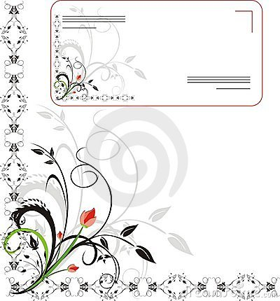 Ornament for design of envelope