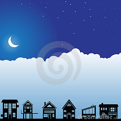 Night Sky Scene - Homes