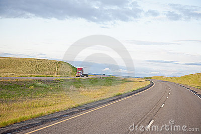 Truck on open highway