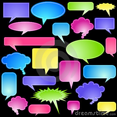 Multiple Chat Icons - Pastel