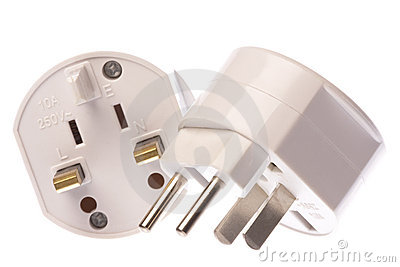 Universal Travel Adapter Isolated
