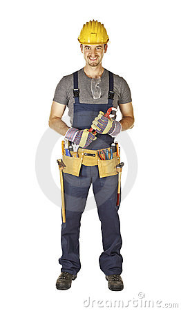 Handyman with toolbelt
