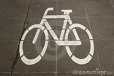 Sign of a bike