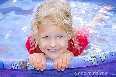 Child swimming.