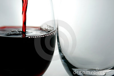 Goblets and Red Wine