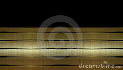 Gold Striped Business Card