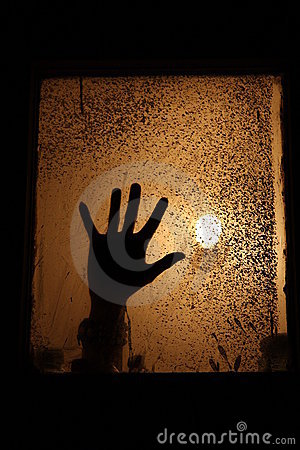 A hand in a window