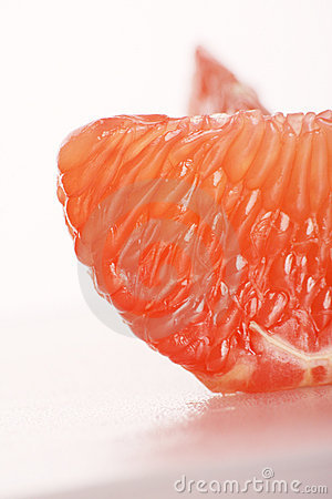 The piece of grapefruit